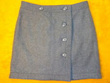ANN TAYLOR ~ MINI SKIRT WRAP ~ HEATHER GRAY ~waist 31 ~size 6 ~length 17 ~ $ 60