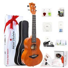 Aklot 23 Inch Ukelele Solid Mahogany Concert Low G Hawaiian Guitar Starter Kit
