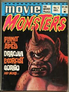 Movie Monsters #1-1974 vg+ 4.5 Atlas Comics Planet of the Apes Gorgo Exorcist