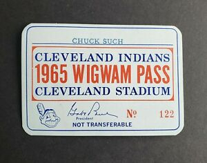 Cleveland Indians 1965 Wigwam Pass Cleveland Stadium - Sports Writer Dick Such
