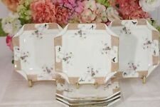 Haviland, Limoges Antique Napkin Fold Luncheon/Dessert Plates (6) Meadow Visitor