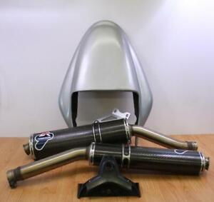 1998-2000 DUCATI SUPERSPORT 900 Termignoni Carbon Mufflers with Tail Section