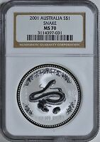 2001 S$1 Australia Aboriginal Kangaroo NGC MS70