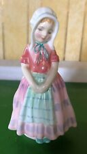 ROYAL DOULTON LADY FIGURE TOOTLES HN 1680 PINK & GREEN DRESS  PERFECT