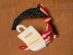 NWT Gymboree Red White and Cute Bow Headband Patriotic Stars Stripes