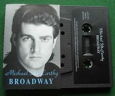 Michael McCarthy Broadway inc Point No Return Signed Insert Cassette Tape TESTED
