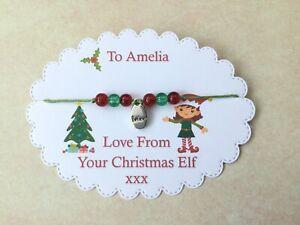 Christmas Elf Wish Bracelet, Personalised Elf Gift, Christmas Eve, Shelf Elf,