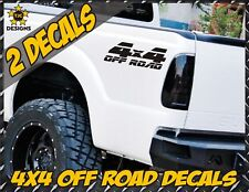 4x4 Off Road Truck Bed Decal Set MATTE BLACK for Ford F-150 and Super Duty