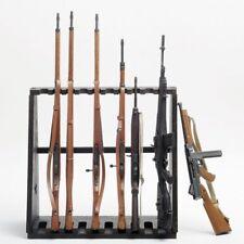 1/6 scale Black Rifle Rack Model Wood Gun Rack Military Equipment Accessories