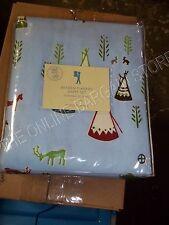 Pottery Barn PB Kids Braden Indians Deer Cowboys Flannel Sheet Sheets Set Twin