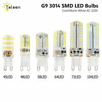 Tsleen G9 3014 SMD LED Lamp Warm/Cool White AC220V Crystal Silicone Lights Bulbs