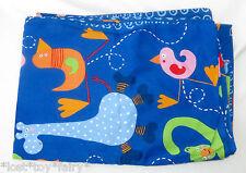 Ikea Barnslig Djur Blue Jungle Animal Circles Cotton Comforter Twin Duvet Cover