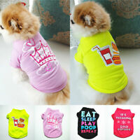 Pet Dog Letter Printed Clothes Puppy Cat Breathable Cute TShirt Coat Jacket Vest
