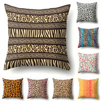 FJ- HOT Leopard Print Pillow Case Cushion Cover Sofa Bedroom Cafe Office Decor L