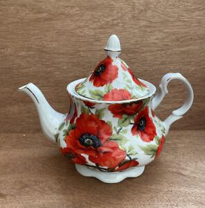 Heron Cross Pottery Poppy Teapot