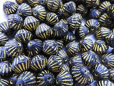 Czech vintage look black lantern beads 11 mm pack of 10