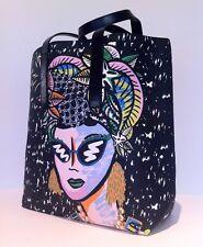 BIMBA Y LOLA Special Print Ed LEATHER+PVC Carmen Miranda Shopper Tote HandbagNWT