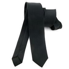 CRAVATE slim 5 cm pour homme Noir en Soie - Silk black Necktie - cravatte