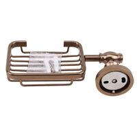 Wall Mounted Bathroom Soap Dish Holder Bracket Brass Antique Toilet Rack CB