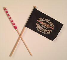 Harley Davidson 105th Anniversary Mini Flag & Mini USA Flag