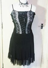 Gothic black lace corset style dress GOTH size S/M
