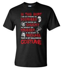 This Is My Halloween T-Shirt Costume Jason Voorhees, Chucky, Krueger, Michael