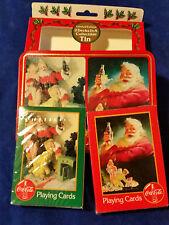 Coca Cola Santa  Playing Cards Collectible Tin 1996 2 Decks Sealed