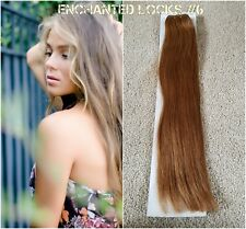 "Hair extensions weave weft human remy hair AAA16"",18""&20"" #6 CoolBrown uk seller"