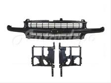Bundle for 99-02 Silverado 1500 2500LD Headlight Housing Support Grille Black 3P