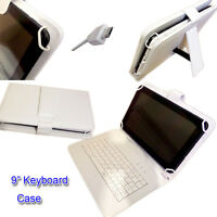 "9"" PU LEATHER CASE COVER  inc KEYBOARD for 9"" TERRA 90 GOCLEVER TAB I921 Tablet"