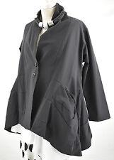 WOW; GERMAN  CHAMPAGNE BLACK LAGENLOOK parachute COAT SIZE L/XL