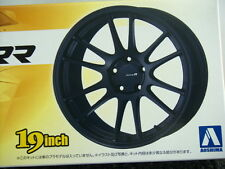 AOSHIMA 09048/NO.149 ENKEI RACING REVOLUTION 19 INCH TIRE & WHEEL SET 1/24 Scale