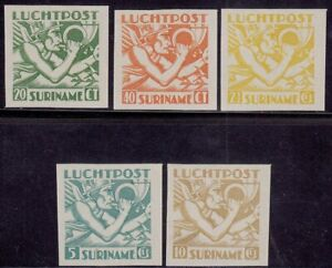 Surinam - Suriname - Airmail Set imperforated -  Mint never Hinged.