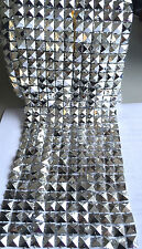 CHROME SQUARE MESH ROLL 12 LINE 10 YARDS FREE POSTAGE