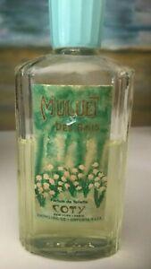 Muguet Des Bois perfume splash 1.18 Oz Coty vintage 2/3 full lily of the valley