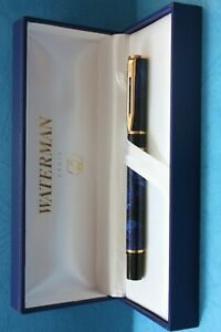 Waterman   Laureat Rollerball Pen  Mineral Blue & Gold  In Box Mint *