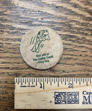 Authentic Frog bog North Wildwood NJ boardwalk game wooden nickel prize token
