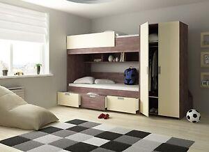Etagenbett Heidelberg Magnolie Kinderbett Hochbett Kinderzimmer Multifunk 90x200