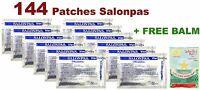 12 Packs x12 = 144 SALONPAS PATCHES Muscle Arthritis Aches Pain Relief BEST DEAL