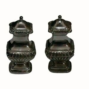 MADE IN ENGLAND GRENADIER  SILVERPLATE SALT AND PEPPER SHAKERS