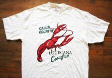 CAJUN COUNTRY LOUISIANA CRAWFISH / USA /  WHITE T-SHIRT SIZE XL
