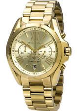 NEW Michael Kors MK5605 Bradshaw Gold Tone Chronograph Unisex Wrist Watch