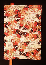 New Fabric Standard Paperback Book Cover Orange Browns on Cream Butterfly Print