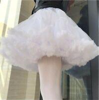 Women Lolita Petticoat Crinoline Underskirt Goth Rockabilly Tutu Skirt 2 Colors