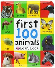 First 100 Animals Board Coloring Book Toddler Children Baby Learning Preschool