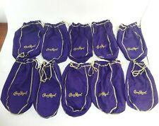 Lot of 10 Crown Royal 1.75L Large Purple Drawstring Bags ~ 12 inch