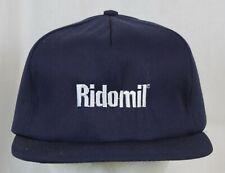 Vtg Ridomil Fungicide Snapback Hat Trucker Farmer Cap Swingster Navy Blue Unworn