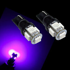 10x T10 194 168 W5W 5 SMD 5050 LED Purple Fixed current Parking Side Light USA