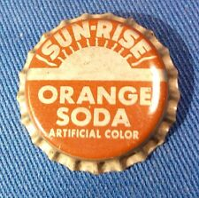 SUNRISE ORANGE SODA BOTTLE CAP CROWN CORK LINER VINTAGE ORIGINAL COCA COLA NOS