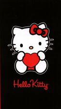 Drap de bain serviette de plage Hello Kitty Heart Black